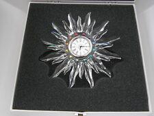 SWAROVSKI SOLARIS CLOCK - MIB Retired - Exquisite Accents 1998
