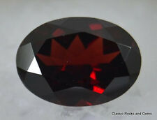 14,9ct Large Faceted Garnet Gemstone Großer Facettierter Granat Edelstein