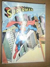 COSTUME CARNEVALE SUPERMAN TAGLIA 4 Vestito Bambino anni 70 Vintage