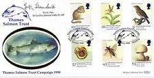 20 JANUARY 1998 ENDANGERED SPECIES MP SIGNED THAMES SALMON FIRST DAY COVER SHS