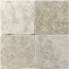 4-Pack  Brown Natural Stone Tumbled Marble Wall Tile 6 x 6 inch