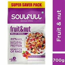Soulfull Millet Muesli Fruit & Nut with Almonds & Real Fruits 700 g & Free Ship