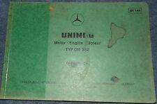 Mercedes Unimog OM 352  Ersatzteilliste / Bildkatalog Motor
