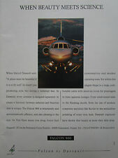 8/1990 PUB DASSAULT AVIATION FALCON 900 BUSINESS JET BIZ JET ORIGINAL AD