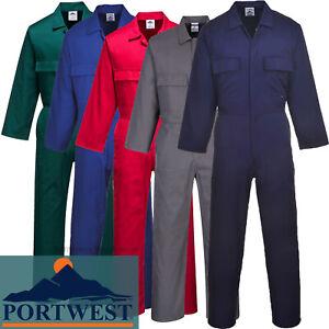 Portwest Coverallls Overalls Boiler Suit  X SMALL TO 6XL Stud Fasten Workwear