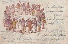 I 157 - Musikkapelle m Dirigent, Trommler, Blasmusiker, 1901 gelaufen