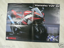 Y108-YAMAHA POSTER BROCHURE  FZS1000 FAZER AND YZF-R1 DUTCH 8 PAGES FOLDED
