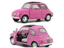 1/18 Solido Fiat 500 Pink 1965 Neuf Boite D'Origine Livraison Domicile