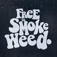 Free To Smoke Weed Marijuana Car Or Laptop Decal Vinyl Sticker For Window Panel
