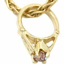 10 Pcs 14k Gold June Birthstone Baby Ring Charm Chain Jewelry
