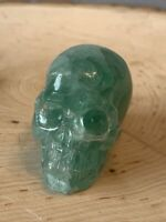"""2"""" Natural Green Fluorite Quality Crystal Skull  Stone Hand Carving - US Seller"""