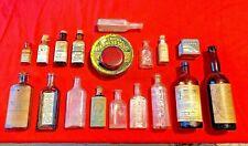 19 Vintage Veterinary & Farm Animal Medicine Bottles Tins Salve Stock Powder
