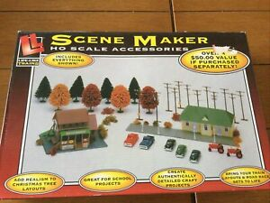NEW LIFE-LIKE TRAINS SCENE MAKER HO SCALE ACCESSORIES CARS, TREES, SCENERY #1739