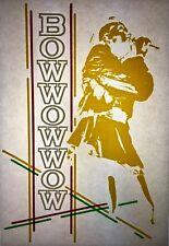 Bow Wow Wow 80s Memorabilia Vintage retro tshirt transfer print,NOS