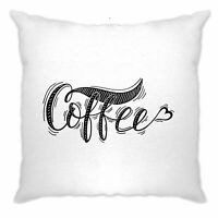Novelty Slogan Cushion Cover Coffee Heart Logo Mornings Work Lazy Breakfast