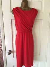 STUNNING COAST CORAL / RED OCCASION DRESS SIZE 14