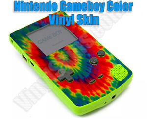 Any 2 Custom Vinyl Skin / Decal Designs for the Gameboy Color -Free US Shipping!