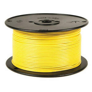 BATTERY DOCTOR 81073 Primary Wire,12 AWG,1 Cond,500 ft,Yellow