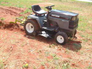 """Craftsman Tractor, 3 Point hitch, High/Low Gears, + Plow, 44"""" Mower, Small Farm"""