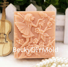 1pcs Girl with Flower (ZX134) Silicone Handmade Soap Molds Crafts DIY Moulds