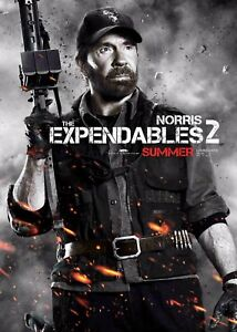 The Expendables 2 Film Poster - Chuck Norris - Option 3 - A4 & A3