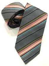Paul Cobalt Multistripe Tie 8 cm Hoja Smith Colección británica hecha en Inglaterra
