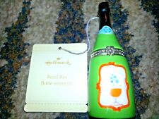 Hallmark Champagne Bottle Trinket Box w/ a Glass Of Bubbly Ceramic Bezel Box New