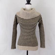 Banana Republic Heritage Womens Sweater Striped XS Wool Alpaca Mohair Cowl Neck