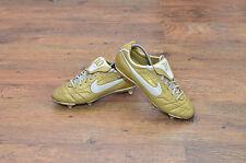 Nike Tiempo Legend II Ronaldinho 10R SG PRO Football Boots Rare Gold Size 8 Uk G