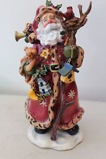 "Adorable Hard Plastic Santa Figurine 10"" L#1313"