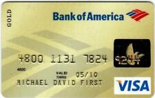 Bank of America VISA Card.  05-10 Expiration.  [Gold]