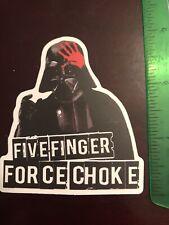 Darth Vader Choke  Star Wars Sticker Decal. Skateboard, Water Bottle,
