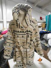 Ava & Viv Women's Blanket Coat with Belt, Creme Aztec Design, 3X