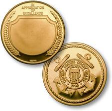 United States Coast Guard Appreciation bright brass alloy challenge coin
