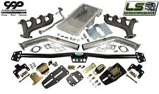 1968-72 CHEVY CHEVELLE LS ENGINE CONVERSION KIT ADJUSTABLE MOUNTS HOLLEY OIL PAN