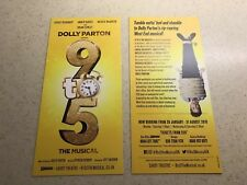 2 X Flyer 9 TO 5 Dolly Parton Musical Louise Redknapp Conley Savoy London 2019