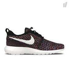 Nike ROSHE casi como nuevo FLYKNIT CORRER ZAPATILLAS ZAPATOS Gimnasio Informal-UK 13 (EUR 48.5) Negro