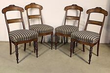 French Empire style dining chairs carved backs Biedermeier Scandianavian 1830
