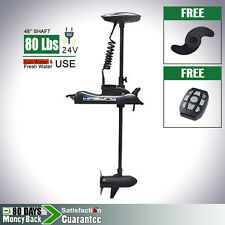 24V 80 lbs Bow Mount Electric Trolling Motor Variable Speed Control