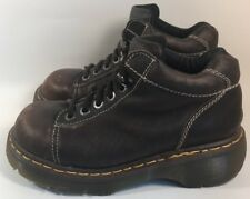 Dr Marten Sz 8/6/39 Women's Brown Leather Lace Up Ankle Boots