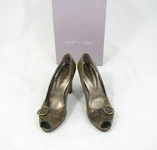 JANET & janet 37 Plateforme Peep Toes Escarpins Chaussures marron neuf