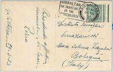 GIBRALTAR -  POSTAL HISTORY - POSTCARD with nice POSTMARK 1933
