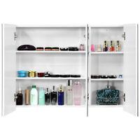 "36"" Wide Wall Mount Mirrored Bathroom Medicine Cabinet Organizer Mirror Door"