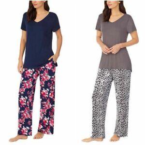 Carole Hochman Midnight Women's Short Sleeve 2-Piece Soft Pajama Set M L XL