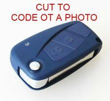 FIAT 2 BUTTON CASE DUCATO PUNTO GRANDE ABARTH 500 KEY FOB CUT TO CODE OR PHOTO
