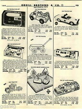 1982 ADVERT Gay Toy Cars Police Car Rodeo Set Tractor Illco Pull String Race