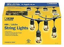 Feit Electric String Lights - 48 ft - 24 Socket - Outdoor Weatherproof - NEW