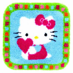 Latch Hook Rug: Hello Kitty with a Heart. Vervaco. Huge Saving