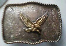 Montana Silversmiths Vintage Custom Rare Belt Buckle Silver Plated Read more!
