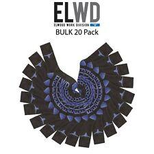 Mens ELWD Elwood Work Division Crew Socks BULK 20 Pack Reinforced Terry EDW901